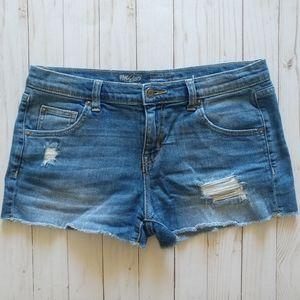 Mossimo Distressed Boyfriend Shorts
